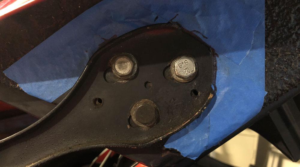 Ferrari 308 decklid alignment holes