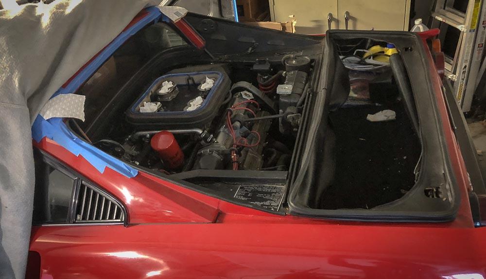 Ferrari 308 decklid removal