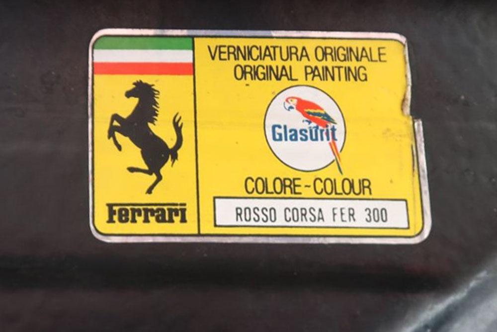 Ferrario 308 PPG paint label
