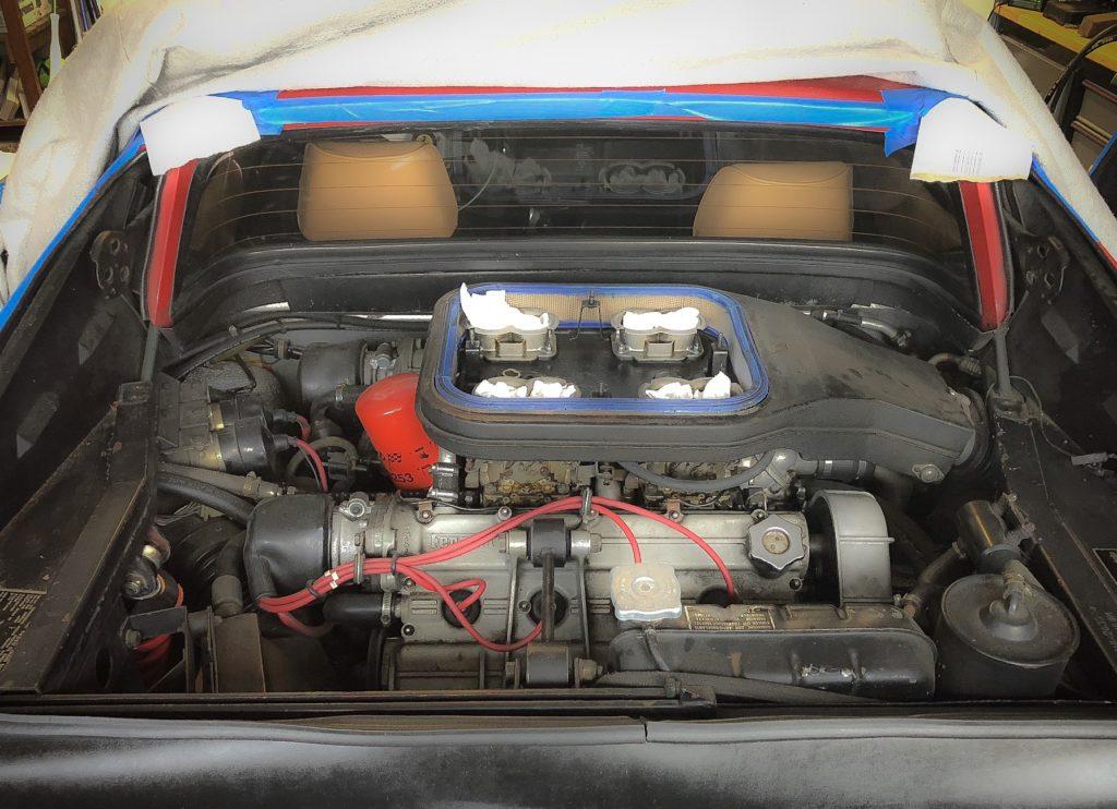 Dirty Ferrari 308 engine