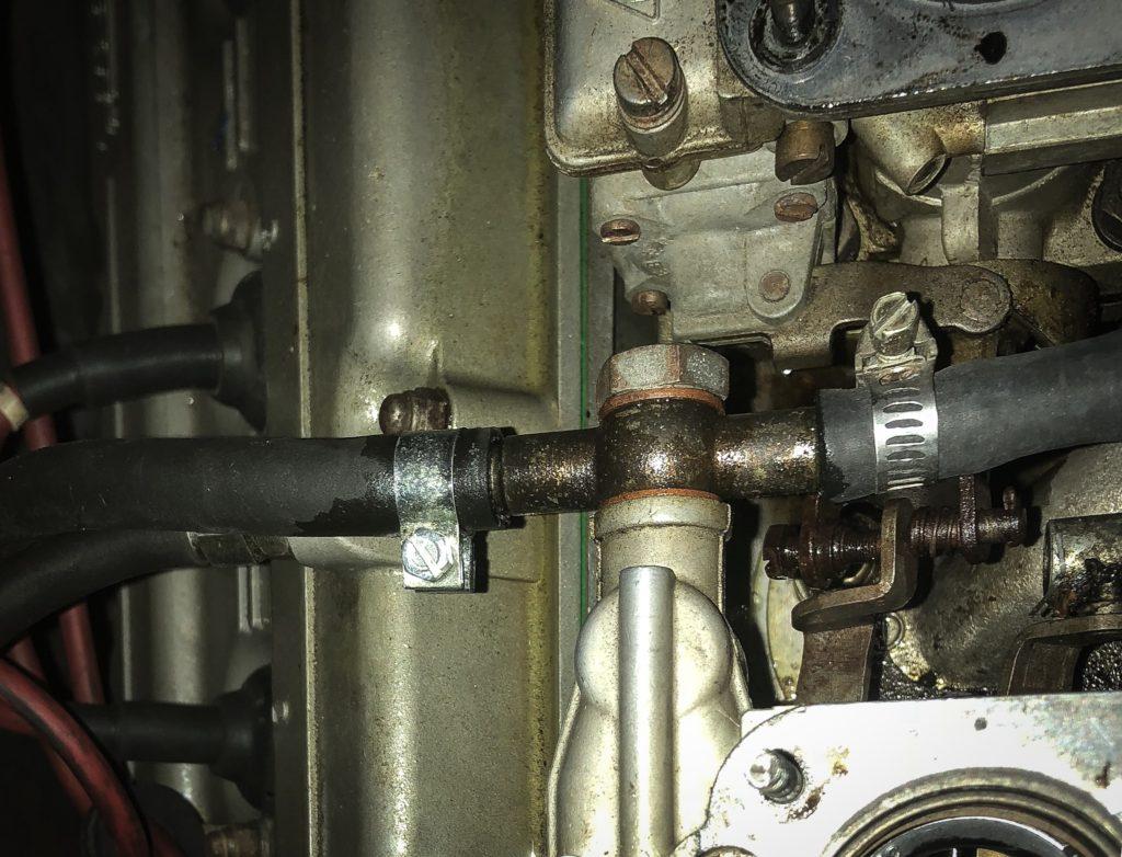 Ferrari 308 fuel leak