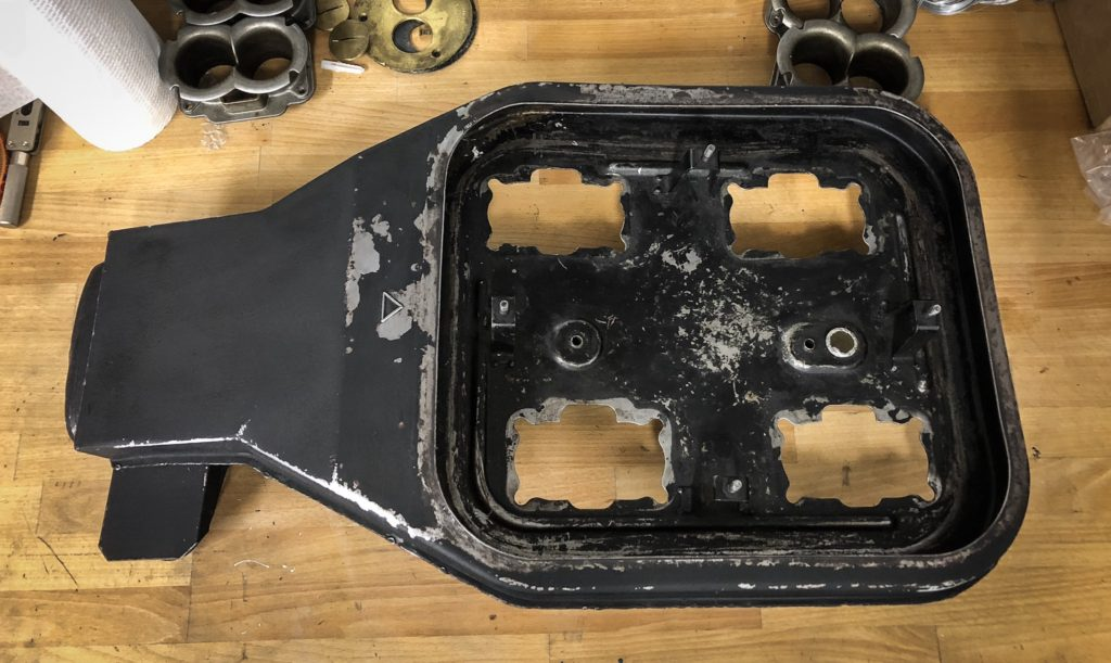Ferrari 308 airbox in need of a repaint